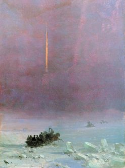 Winter in St. Petersburg | Ivan Constantinovich Aivazovsky | Oil Painting