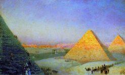 Pyramids of Giza | Ivan Constantinovich Aivazovsky | Oil Painting