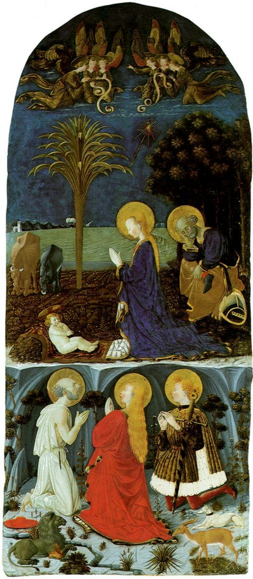 Adoration of Christ Child | Paolo Uccello | Oil Painting