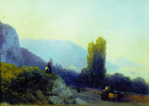 The Road to Yalta | Ivan Constantinovich Aivazovsky | Oil Painting