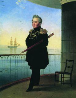 Portrait of Vice Admiral M.P. Lazarev | Ivan Constantinovich Aivazovsky | Oil Painting