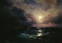 After the Storm. The Moonrise | Ivan Constantinovich Aivazovsky | Oil Painting