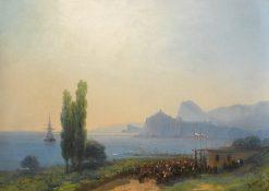 Greeting the Emperor in Sudak   Ivan Constantinovich Aivazovsky   Oil Painting