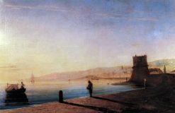 A Pier in Feodosia | Ivan Constantinovich Aivazovsky | Oil Painting
