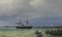 Arrival of a Ship | Ivan Constantinovich Aivazovsky | Oil Painting