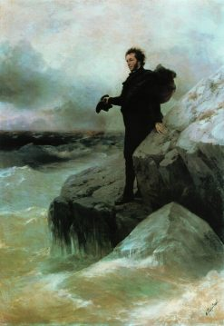 Alexander Pushkin Saying Good-bye to the Sea | Ivan Constantinovich Aivazovsky | Oil Painting