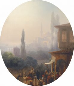 Market Scene in Constantinople | Ivan Constantinovich Aivazovsky | Oil Painting
