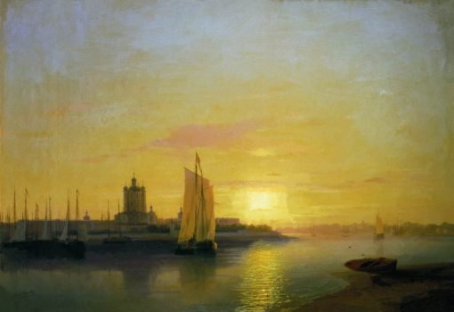 Smolny Convent   Ivan Constantinovich Aivazovsky   Oil Painting