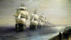 The Black Sea Fleet in 1849 | Ivan Constantinovich Aivazovsky | Oil Painting