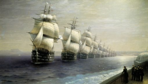 The Black Sea Fleet in 1849 | Ivan Constantinovich Aivazovsky | Oil Painting