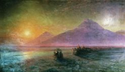 Descent of Noah from Ararat | Ivan Constantinovich Aivazovsky | Oil Painting