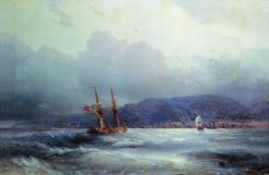 View of Trabzon from the Sea | Ivan Constantinovich Aivazovsky | Oil Painting