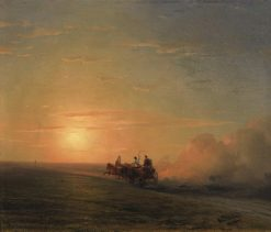 Troika in the Steppe | Ivan Constantinovich Aivazovsky | Oil Painting