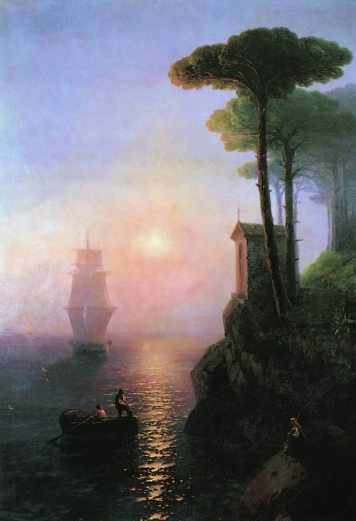 Misty Morning in Italy   Ivan Constantinovich Aivazovsky   Oil Painting