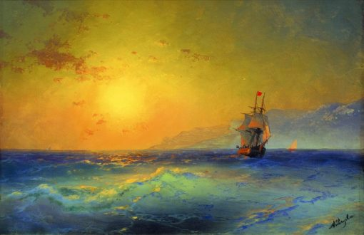 Off the Coast of Crima | Ivan Constantinovich Aivazovsky | Oil Painting