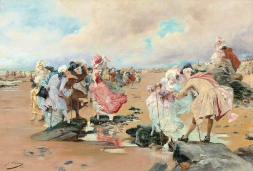 A Sunday at the Seaside | Georges Jules Victor Clairin | Oil Painting