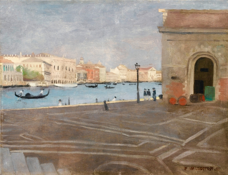 Venise, LAncienne Douane et le Grand Canal Painting | Felix ...