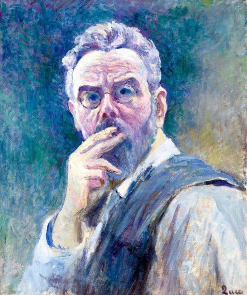 Self Portrait with a Cigarette | Maximilien Luce | Oil Painting
