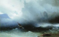 Hurricane at Sea | Ivan Constantinovich Aivazovsky | Oil Painting
