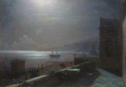 Feodosia at Night   Ivan Constantinovich Aivazovsky   Oil Painting