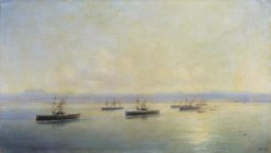 Fleet with a View of Sevastopol   Ivan Constantinovich Aivazovsky   Oil Painting