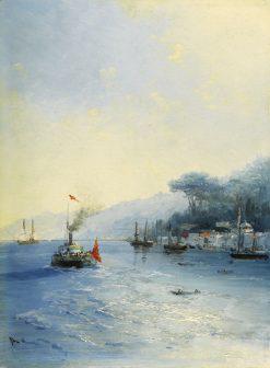 Fleet on the Bosphorus   Ivan Constantinovich Aivazovsky   Oil Painting