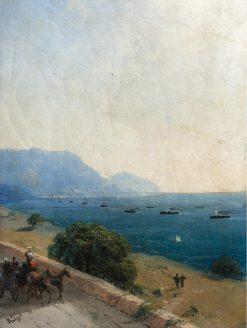 Frigate on the Black Sea   Ivan Constantinovich Aivazovsky   Oil Painting