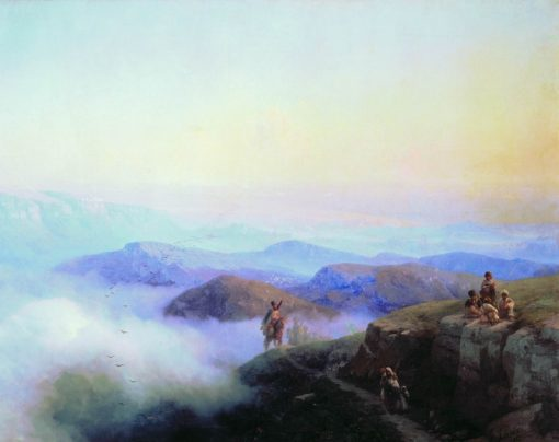 The Caucasus Mountains | Ivan Constantinovich Aivazovsky | Oil Painting