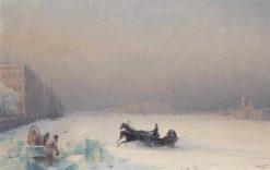 Alexander II on the Frozen Neva River | Ivan Constantinovich Aivazovsky | Oil Painting