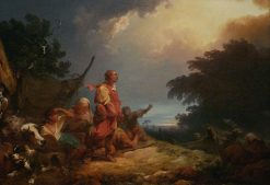 The Angel Appearing to the Shepherds | Philippe-Jacques de Loutherbourg | Oil Painting