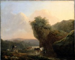 Landscape with Cattle | Philippe-Jacques de Loutherbourg | Oil Painting