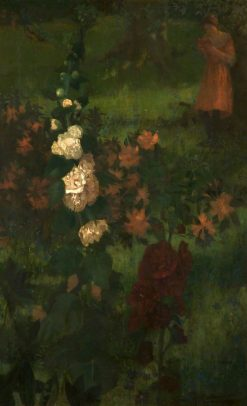 Hollyhocks | William Stott-of-Oldham | Oil Painting