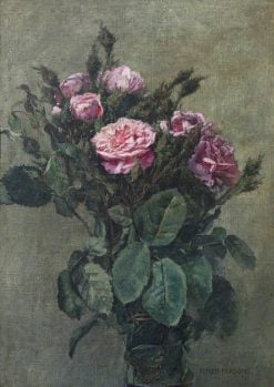 A Bunch of London Market Garden Moss Roses | Alfred William Parsons