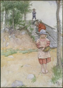 By the Cellar | Carl Larsson | Oil Painting