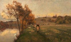 Meadows by the Avon | Alfred William Parsons