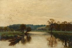 Morning on the Kennet   Alfred William Parsons