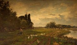 On the Avon near Stratford | Alfred William Parsons