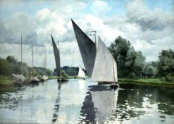 On the Bure at Wroxham | Alfred William Parsons