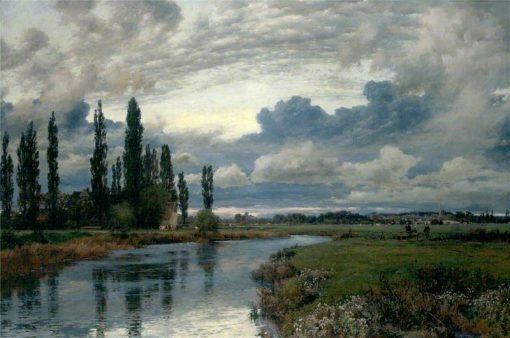 Poplars in the Thames Valley | Alfred William Parsons