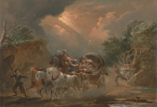 Coach in a Thunderstorm | Philippe-Jacques de Loutherbourg | Oil Painting