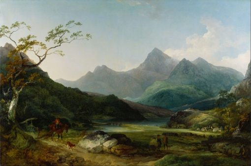 Snowdon from Capel Curig   Philippe-Jacques de Loutherbourg   Oil Painting