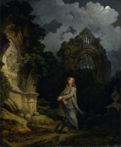 Visitor to a Moonlit Churchyard | Philippe-Jacques de Loutherbourg | Oil Painting