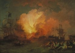 The Battle of the Nile | Philippe-Jacques de Loutherbourg | Oil Painting