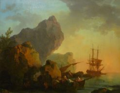 Seascape at Sunset | Philippe-Jacques de Loutherbourg | Oil Painting