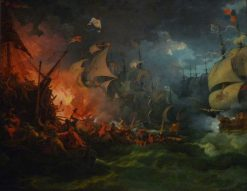The Defeat of the Invincible Armada | Philippe-Jacques de Loutherbourg | Oil Painting