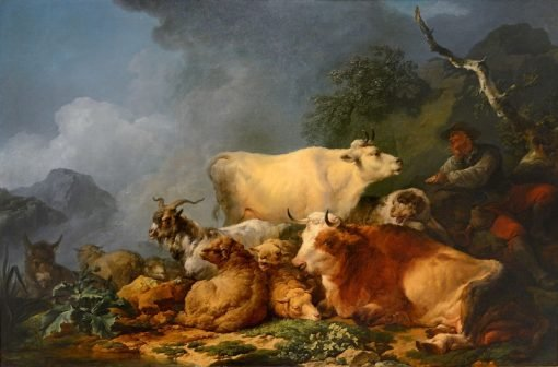 Landscape with Animals | Philippe-Jacques de Loutherbourg | Oil Painting