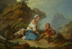 Hagar and Ishmael at the Well | Philippe-Jacques de Loutherbourg | Oil Painting