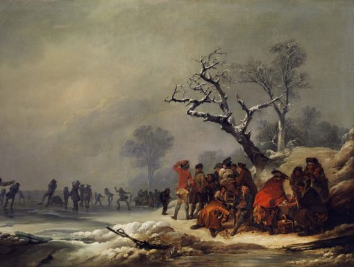 Skating in Hyde Park | Philippe-Jacques de Loutherbourg | Oil Painting