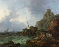 The Wreckers | Philippe-Jacques de Loutherbourg | Oil Painting