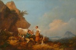 A Cup of Milk | Philippe-Jacques de Loutherbourg | Oil Painting